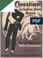 Willi Ostermann - Chrestian Du Bis Ne Feine Mann
