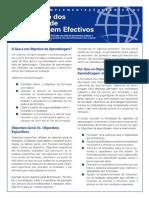Formulação Dos Objectivos de Aprendizagem Efectivos - PDF