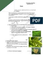 SAT 2 Biology - Plants