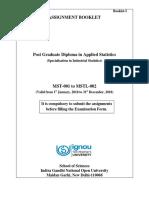 Assignment Booklet PGDAST Jan-Dec 2018