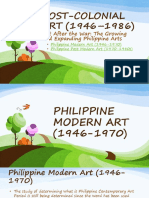 Postcollonial Arts in the Philippines