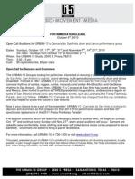 Open Call 2010 Press Release