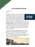 El Origen de La Localidad de Plottier