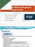 Kelompok 2. Perubahan Sistem Respirasi Pada Lansia