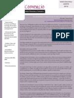 Boletín Finanzas & Comercio agosto 2010