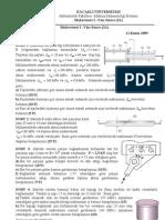 Mukavemet I (2A) - 2009-2010 Vize Soru ve Cevapları