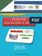 Plan de Mejora 2018 Agosto