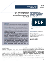 The Impact of Irrational Perioperative Antibiotic Prophylaxis on the Nursing Workload