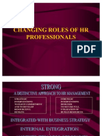 Changing Roles of HR Professional