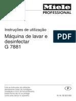 Instruções de Utilização Miele G 7881