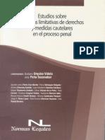 Estudios Sobre Medidas Limitativas de Derechos y Medidas Cautelares en El Proceso Penal