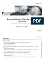 Adequate Bearing Material and Heat Treatment