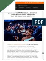 00 Juan Carlos Núñez Eterna Conexión Con La Sinfónica de Venezuela (Navas 2015)