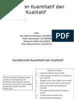 Karakteristik Kuantitatif Dan Kualitatif