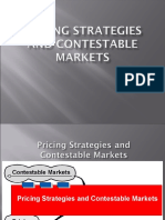 Contestable Markets and Pricing Strategy