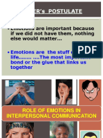 Role of Emotions in Inter Personal Communication New