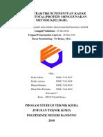 Laporan Praktikum Penentuan Kadar Nitrogen Total
