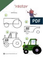 Aprender a Dibujar Tractor