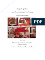 Biagio Cepollaro Cognizione Del Dolore 2010-Catalogo