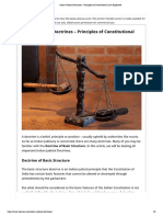 Indian Judicial Doctrines - Principles of Constitutional Law Explained
