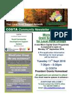 COSTA Newsletter - Sept 2018