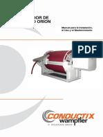 ENRROLLADOR ORION Manual Para La Instalación Mantenimiento