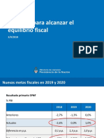 Las medidas de ajuste anunciadas para reducir el déficit fiscal