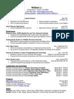 William Li's Resume