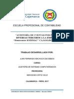 """Auditoria Cuentas Por Pagar """"Homecenter Sodimac"""""""