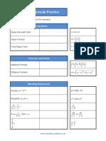 Sat Math Formula Practice - e Math Academy
