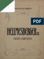 Hellmesberger Sechs Kadenzen