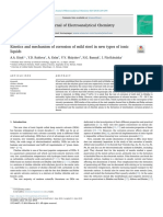Kinetics and Mechanism of Corrosion of Mild Steel in New Types of Ionic