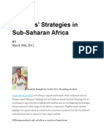 Retailers Strategy in Africa