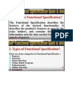 Functional Specification Question & Answers