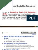 2. Occupational Health Risk Assessment (1)