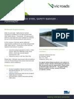 Detail Sheet BarrierGuard 800 Steel Safety Barrier Permanent