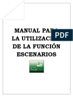 Manual funcion excenarios en excel