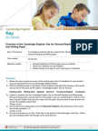 352216 Cambridge English Key for Schools Reading and Writing Overview