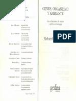 Lewontin, R. (1998) - Genes, Organismo y Ambiente Cap1