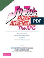JoJo's Bizarre Adventure - The RPG