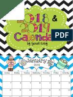 Calendario Editable 2018-2019