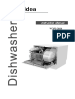 Midea WQP6 3604 AU Benchtop Dishwasher User Manual