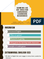 Gaming as an English Language Learning Resource