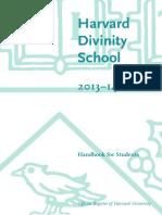 Hds Student Handbook 2013-14