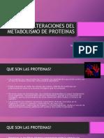 Clase 5 28.08.18 Alteraciones Del Metabolismo de Proteinas