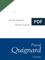 eBook Quignard Pascal - Mourir de Penser