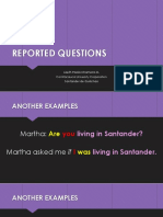 Reported Questions (1)