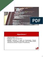 Algoritmos I - Unidade 1