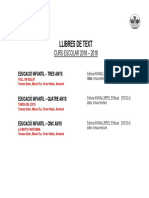 Llibres Text 2018-2019