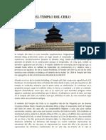 CULTURA CHINA Templo Del Cielo